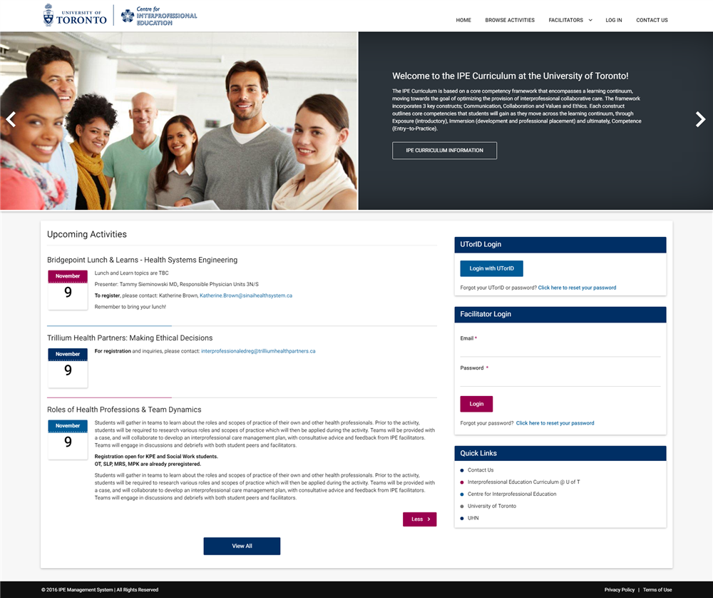 University Of Toronto Ipe Management System Wired Solutions